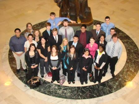 Youth Leadership Class at the State Capital